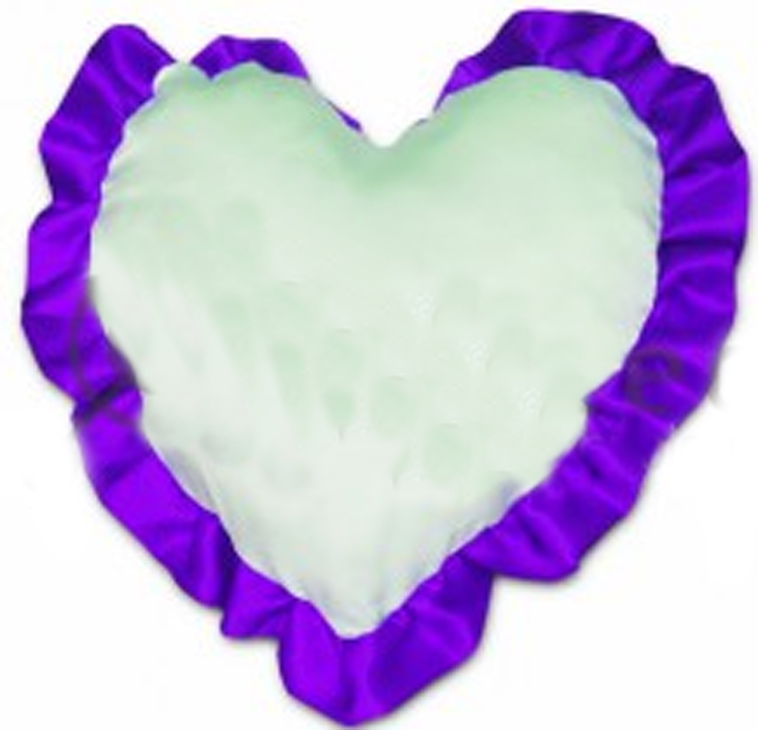 сердце с рюшью фиолетовое