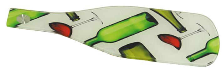 Доска разделочная стеклянная, в виде бутылки с печатью фотографий или лого